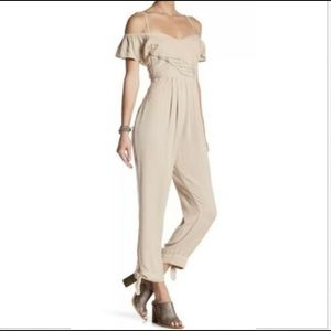 Free People In The Moment Jumpsuit Beige Size 2